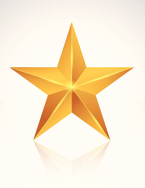 A golden star on a white background Star is born celebrities stock illustrations