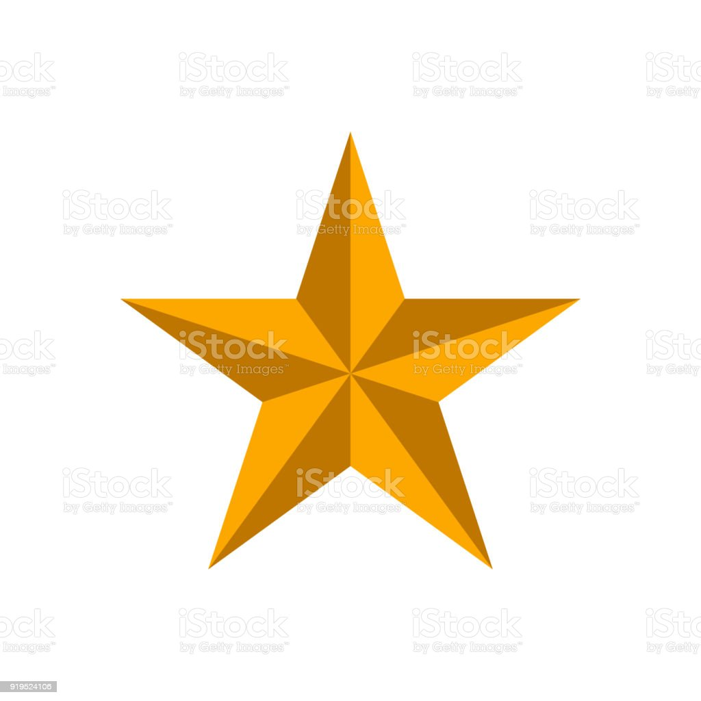 Golden star on white background royalty-free golden star on white background stock illustration - download image now
