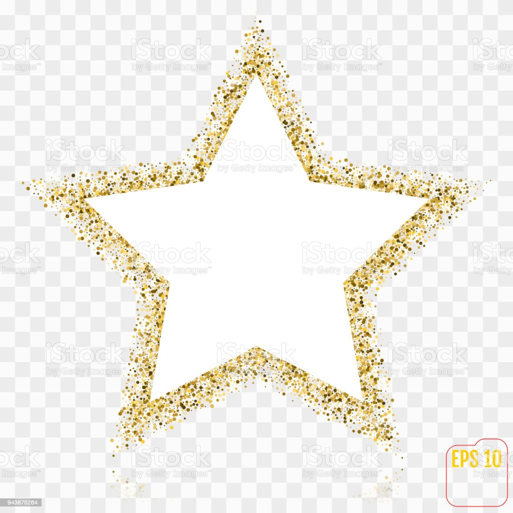 Golden Star Vector Banner Gold Glitter Star Gold Template Star For