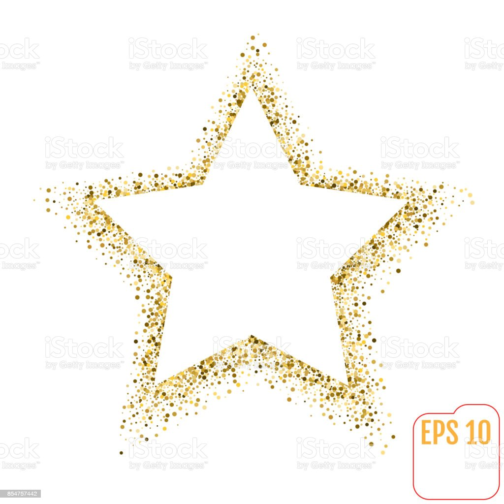 golden star vector banner on white background gold glitter
