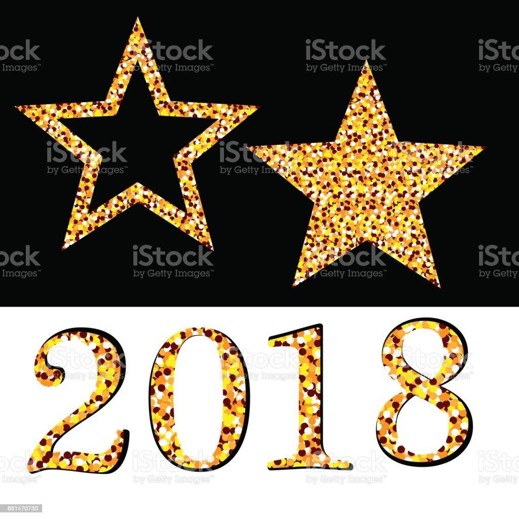golden star vector banner on white black background gold glitter star gold template
