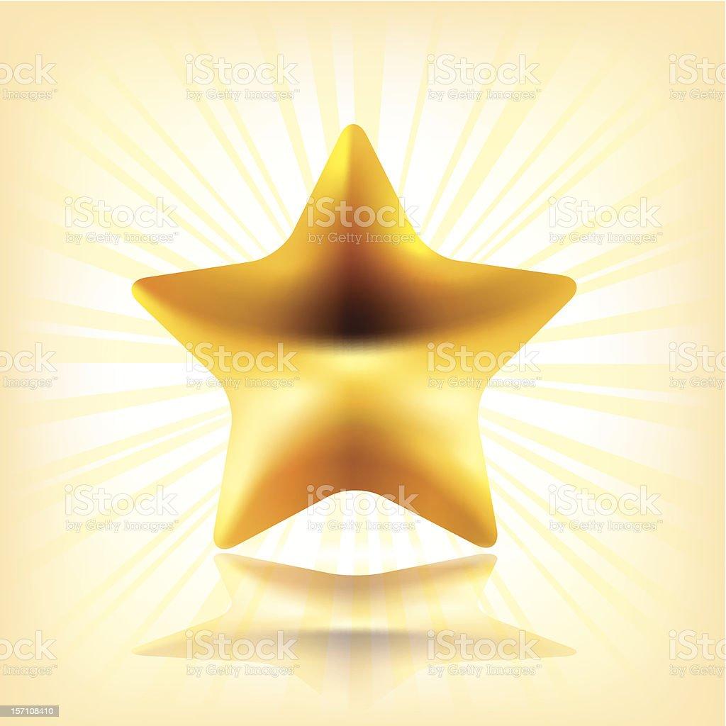 Golden star. royalty-free stock vector art