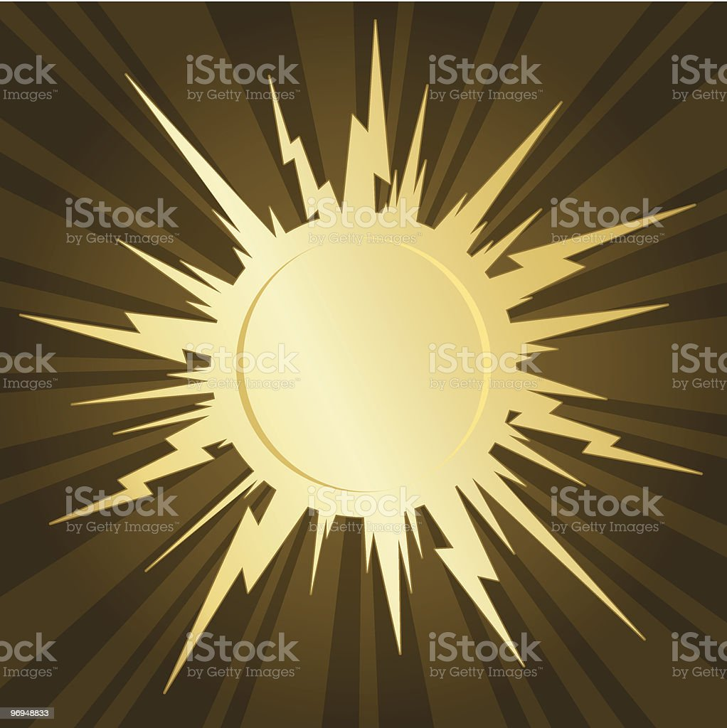 Golden starburst royalty-free stock vector art