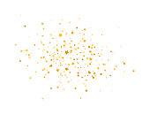 istock Golden stars composition on white background. Glitter elegant design elements. Gold shooting stars. Magic decoration. Christmas texture. Vector illustration 1248296007