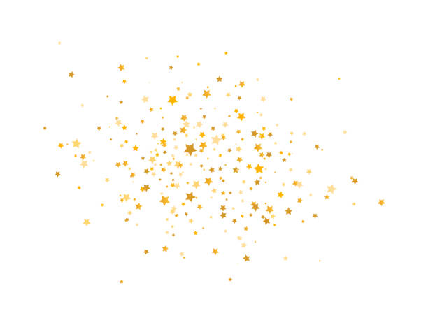 Golden stars composition on white background. Glitter elegant design elements. Gold shooting stars. Magic decoration. Christmas texture. Vector illustration Golden stars composition on white background. Glitter elegant design elements. Gold shooting stars. Magic decoration. Christmas texture. Vector illustration. stars stock illustrations