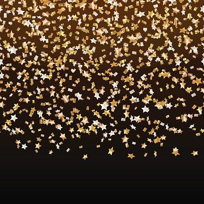 Estrellas doradas del carnaval de confeti