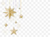 Luxury Christmas decoration with copy space. Vector illustration, EPS 10