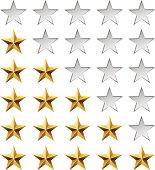 Golden stars rating template