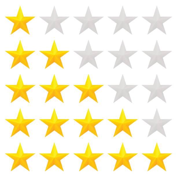 illustrations, cliparts, dessins animés et icônes de étoiles dorées de classement - voyages en première classe
