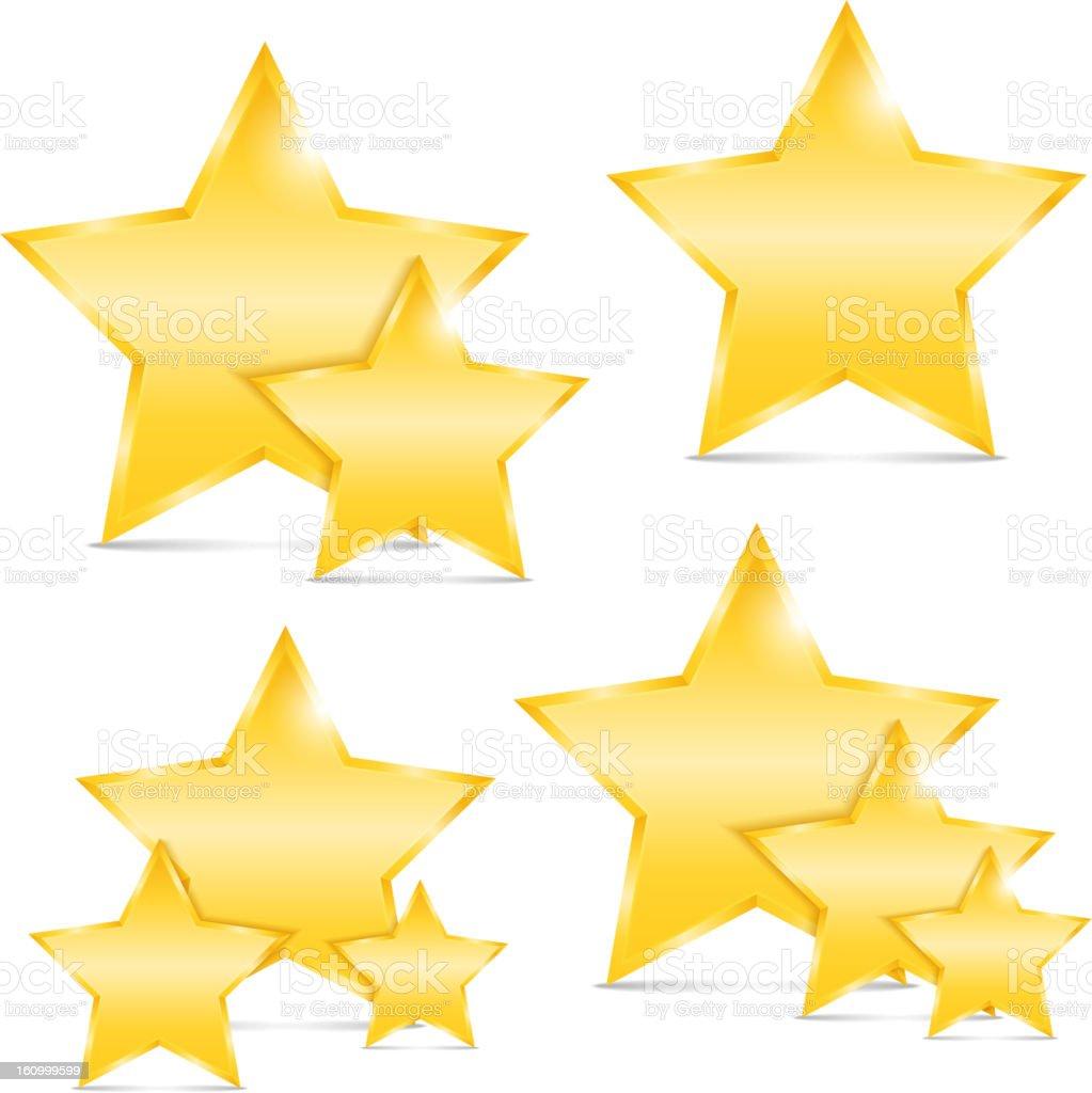 Golden Stars royalty-free stock vector art