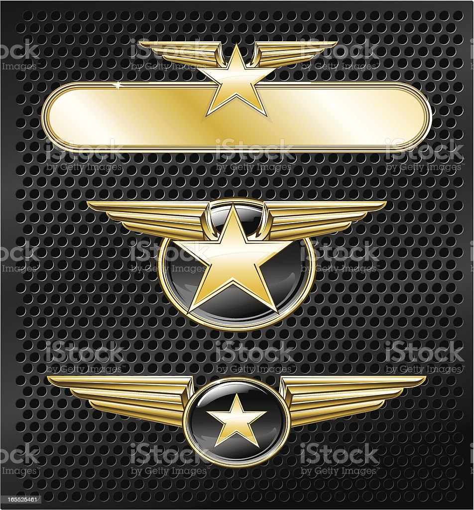 Golden stars royalty-free stock vector art