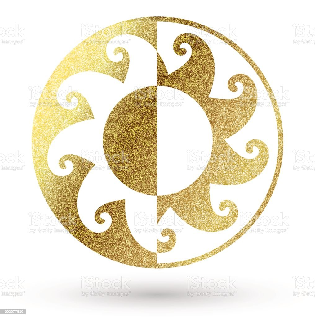 Golden sun symbol stock vector art more images of abstract golden sun symbol royalty free golden sun symbol stock vector art amp more images buycottarizona Images