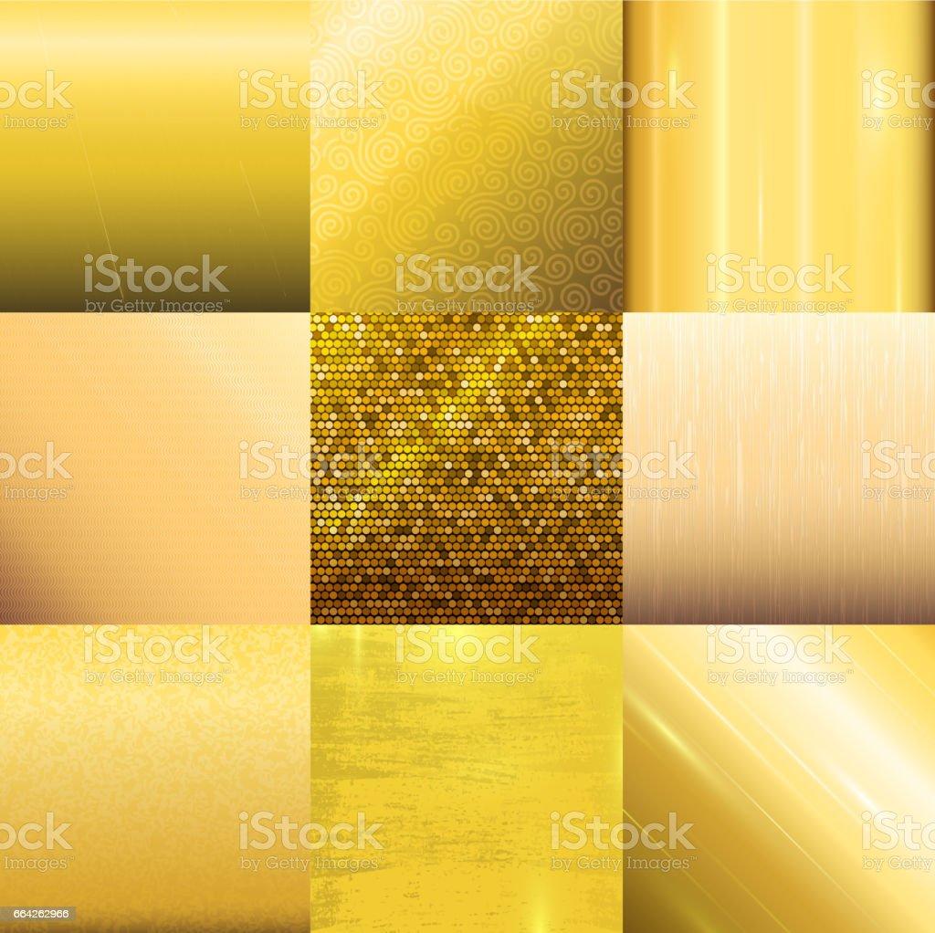 Modelo de vetor de padrão de textura dourada - ilustração de arte em vetor