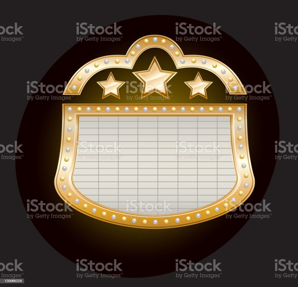 Golden Theater Marquee royalty-free stock vector art