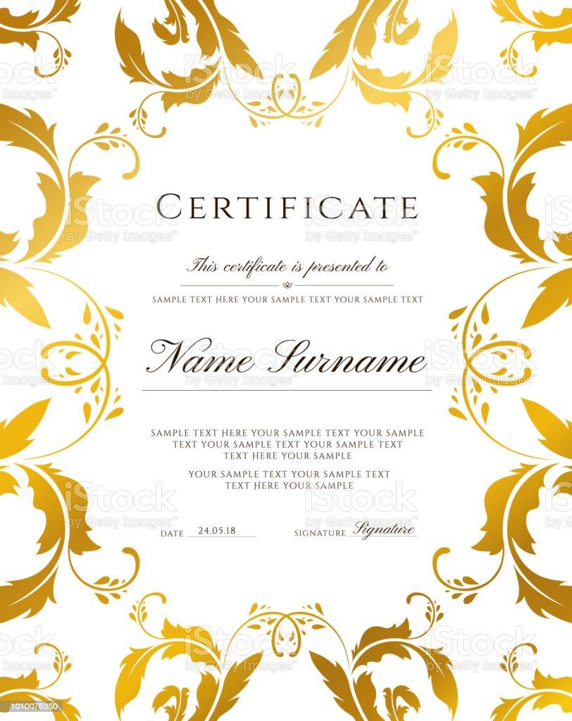 golden ticket gift certificate gift voucher vector template design