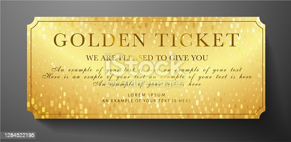 Also gold card useful for party, cinema, event or entertainment show