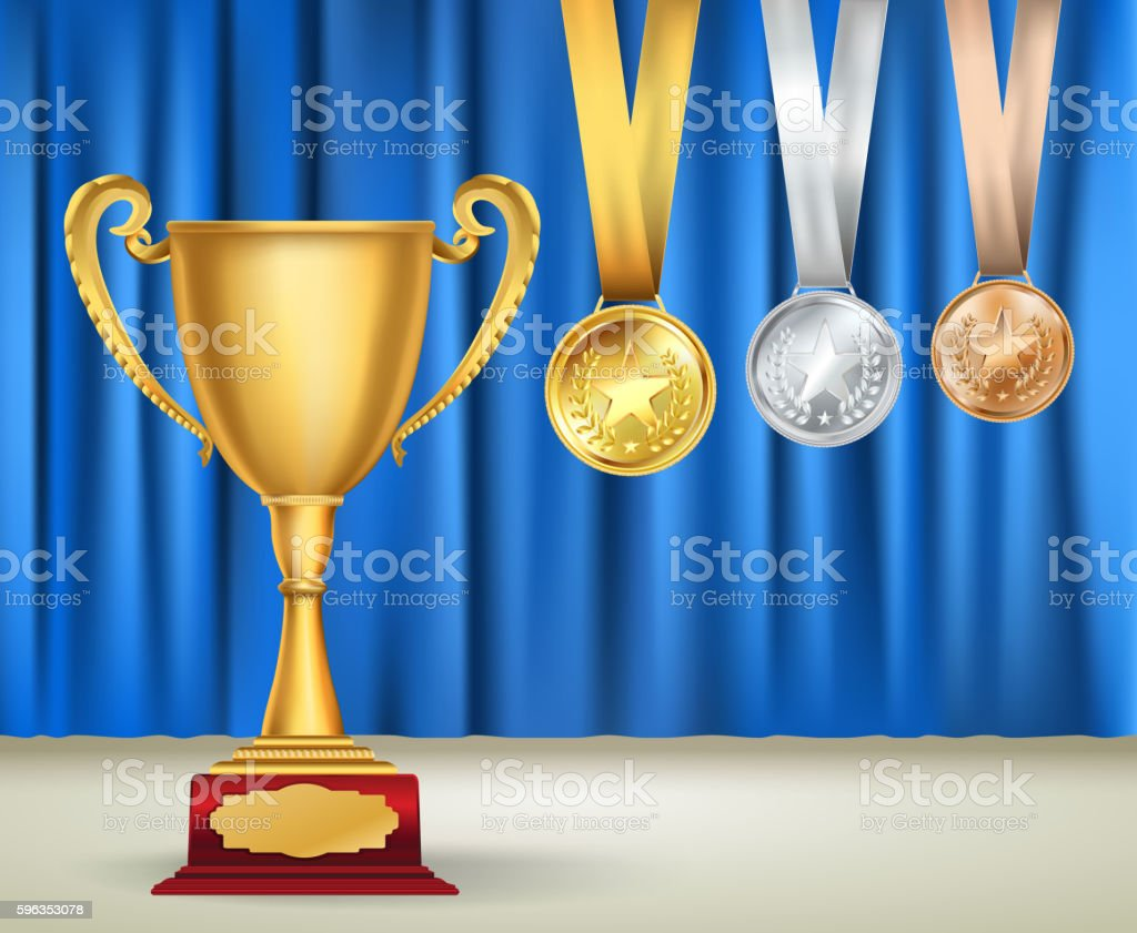 Golden trophy cup royalty-free golden trophy cup stock vector art & more images of abstract