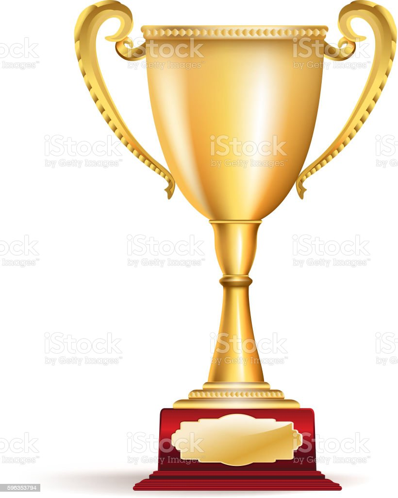Golden trophy cup royalty-free golden trophy cup stock vector art & more images of achievement