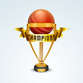 Golden trophy for Cricket.