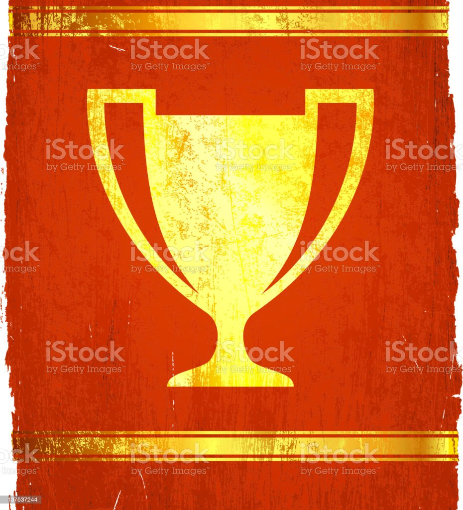 golden trophy on royalty free vector Background royalty-free stock vector art