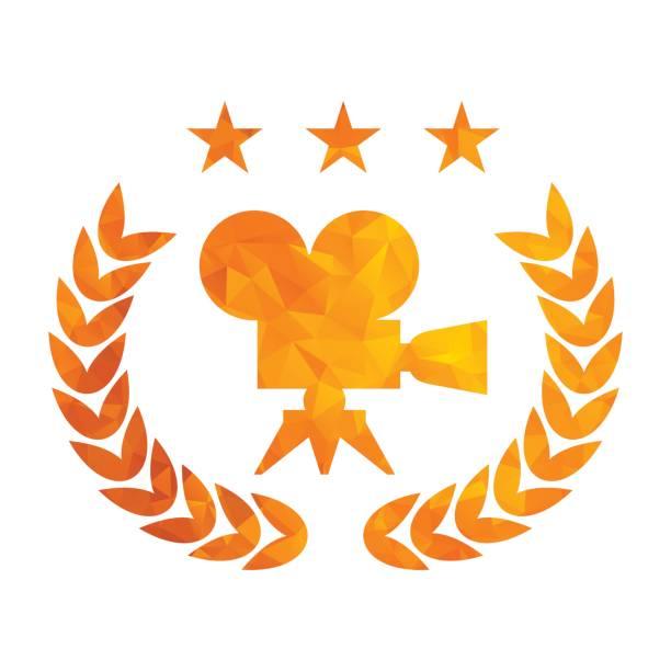 golden tryangle film award - oscars stock illustrations, clip art, cartoons, & icons