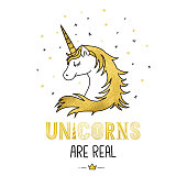 istock Golden unicorn 912068780