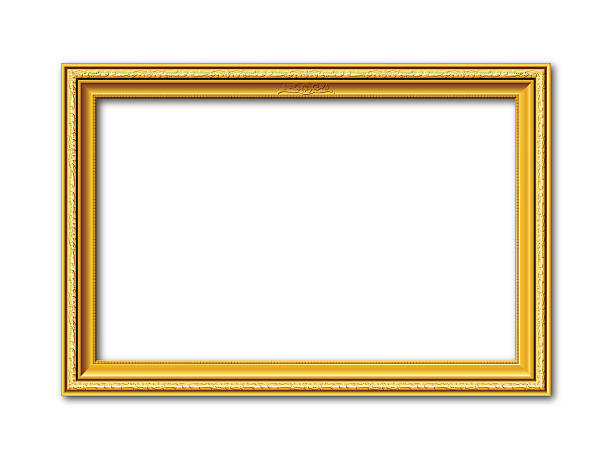 bildbanksillustrationer, clip art samt tecknat material och ikoner med golden vector frame with stucco ornaments - ancient white background