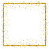 An empty golden frame for use as a design element