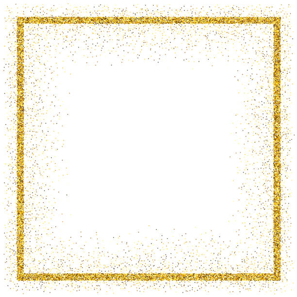 Golden vector glitter frame vector art illustration
