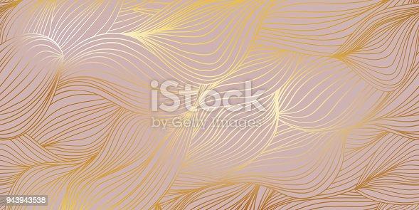 istock Golden wave background 943943538