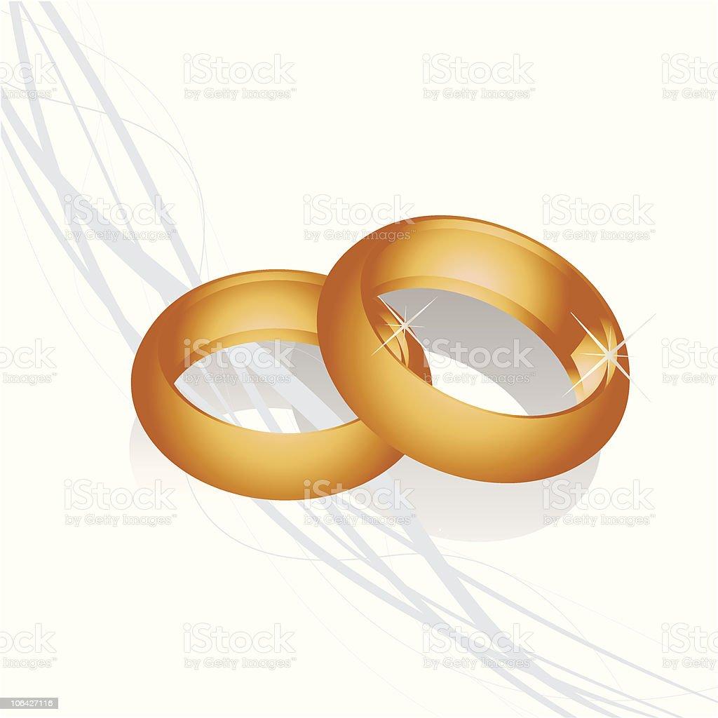 Goldene Hochzeit Ringe Stock Vektor Art Und Mehr Bilder Von Ehering