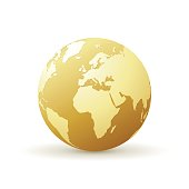 golden world globe