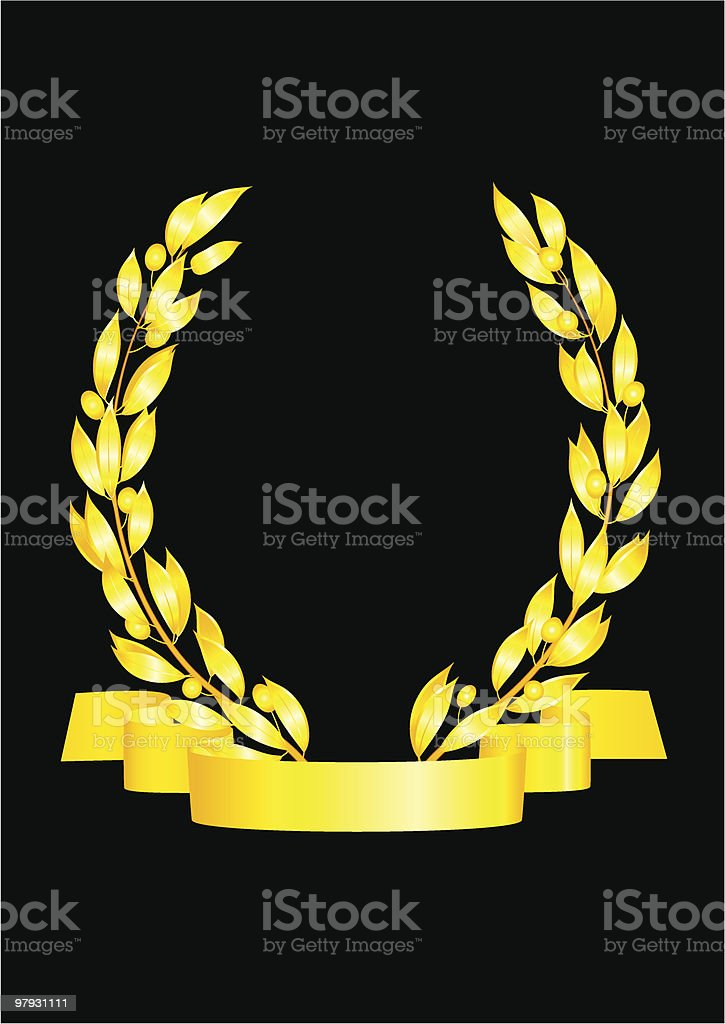 Golden wreath. royalty-free golden wreath stock vector art & more images of backgrounds