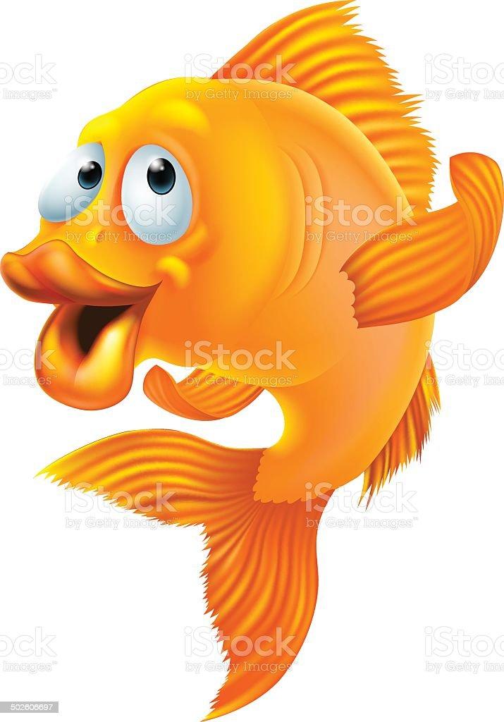 Goldfish cartoon vector art illustration