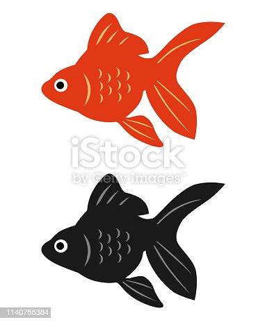 Goldfish icon set