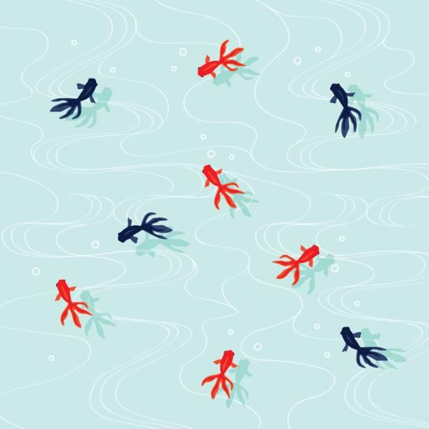 Goldfish illustration vector art illustration