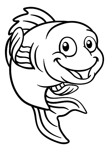 Goldfish or Gold Fish Cartoon Character