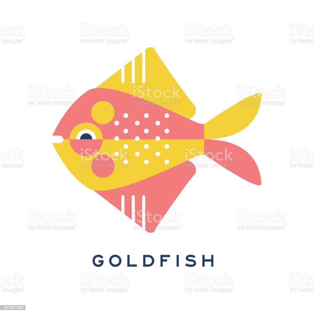 Vetores De Peixinho Peixe De Mar Geometrica Plana Vetor De Estilo