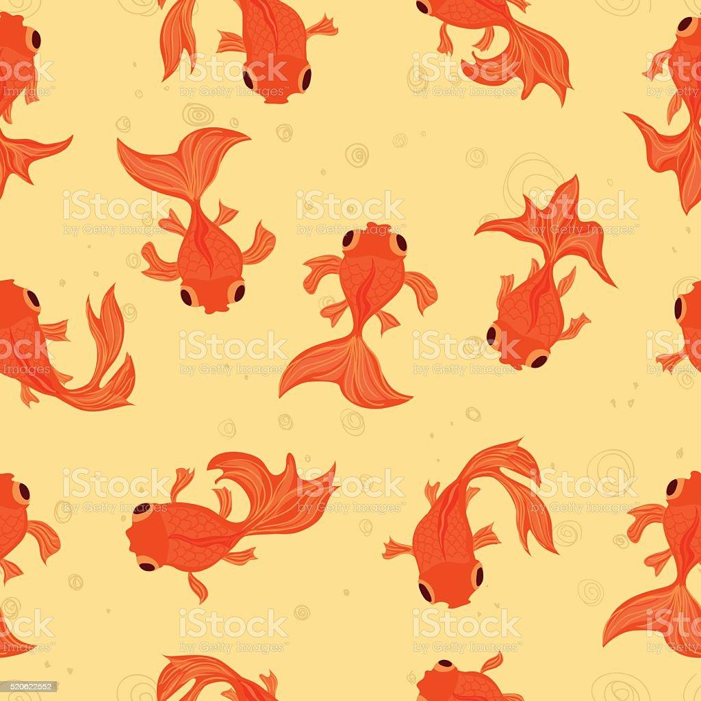 Goldfish Seamless Pattern - Illustration vector art illustration