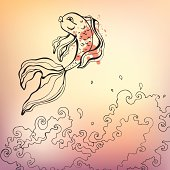 Goldfish. Vector illustration.