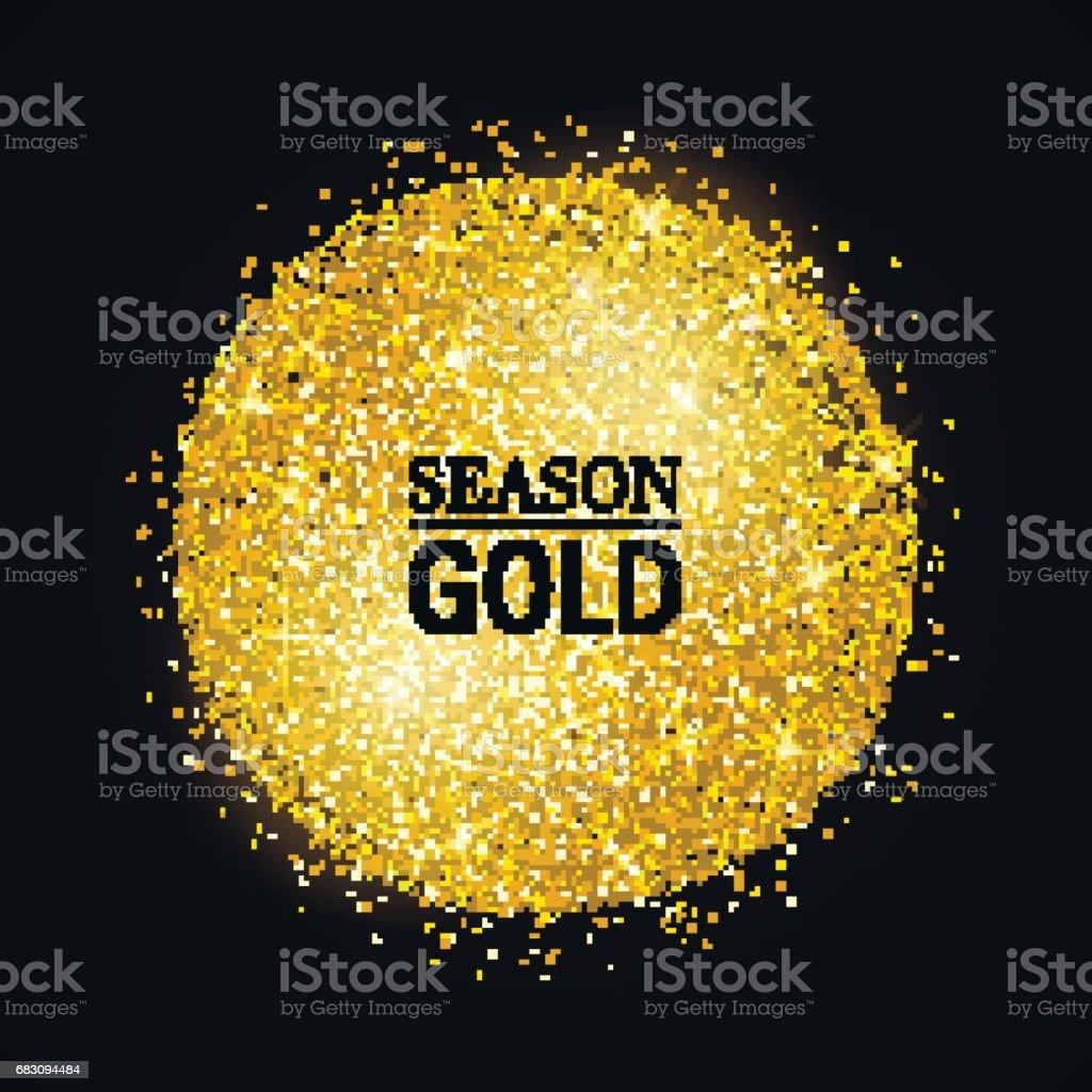 GoldSpot vector art illustration
