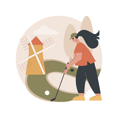 Golf abstract concept vector illustration.
