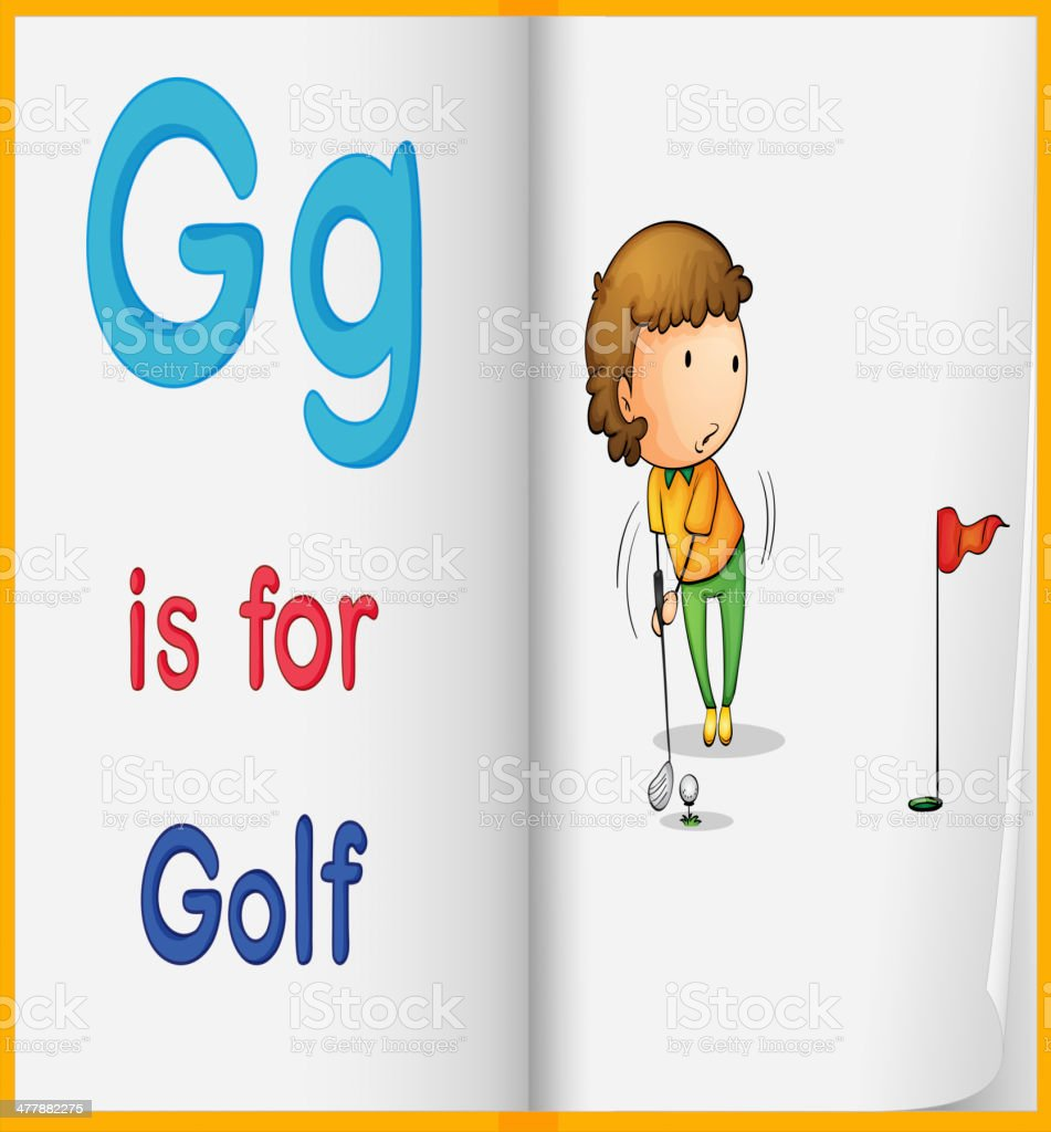 Golf and a book royalty-free stock vector art