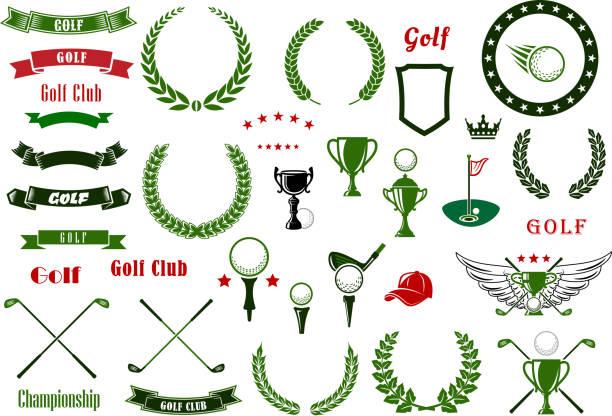ゴルフやゴルフィングスポーツ要素または項目 - ゴルフ点のイラスト素材/クリップアート素材/マンガ素材/アイコン素材