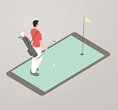 Golf App Illustration