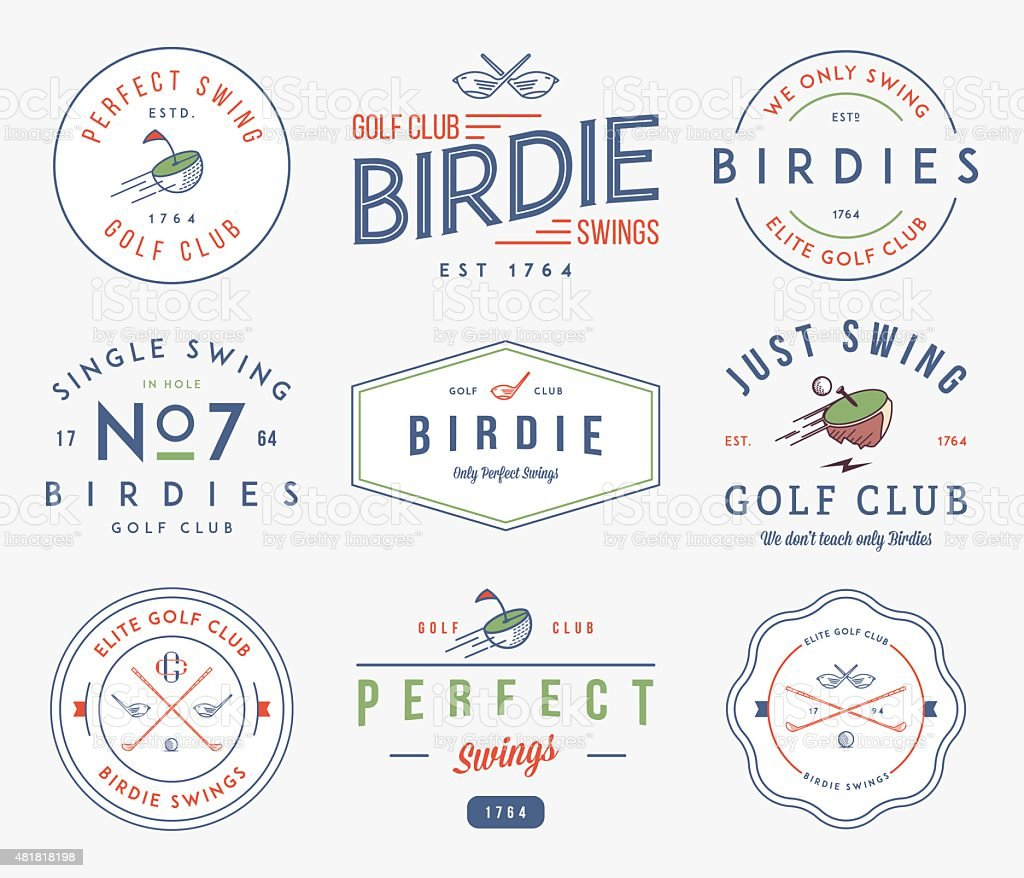 Golf Badges and labels vector art illustration