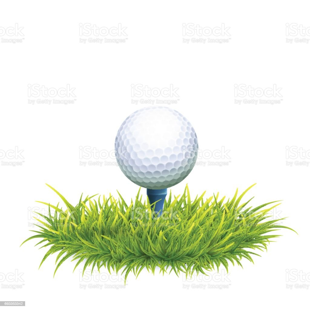 Fundo de bola de golfe - ilustração de arte em vetor