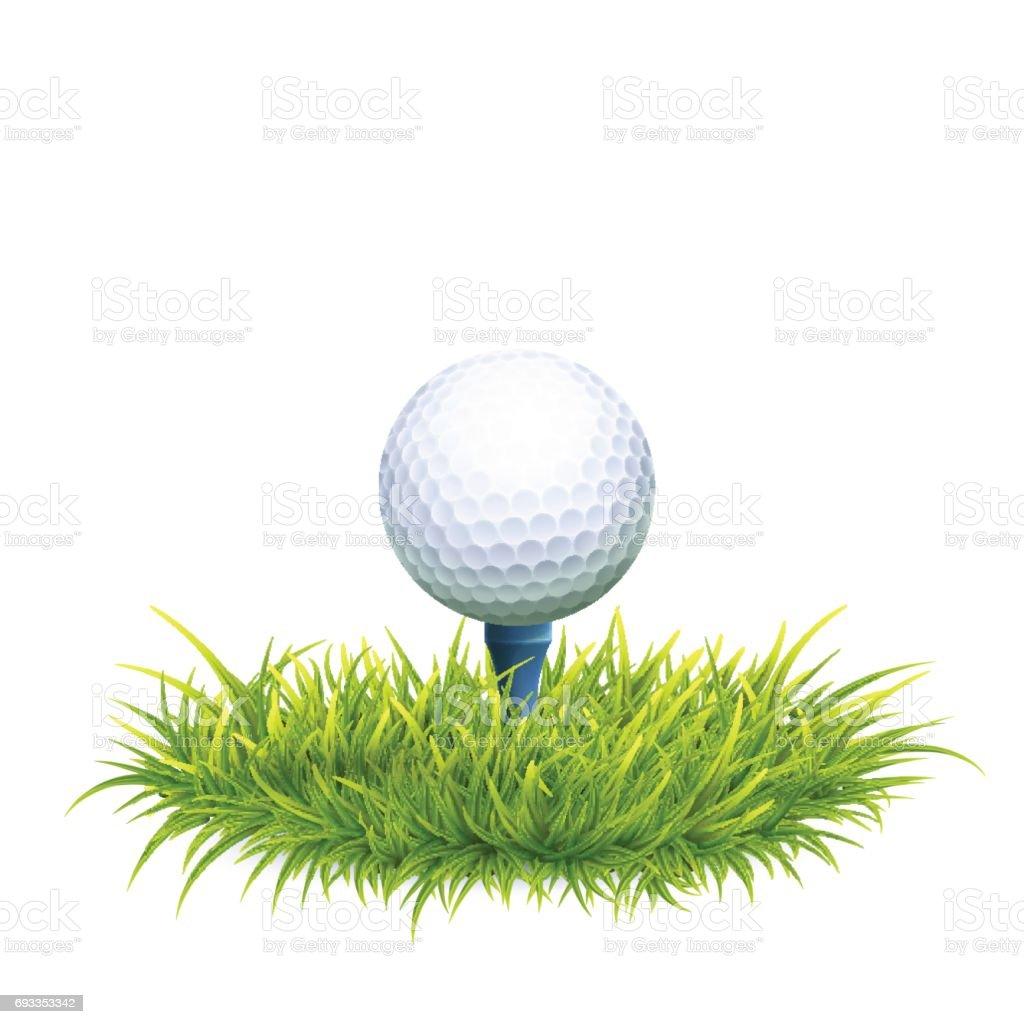 Golf Ball Background vector art illustration