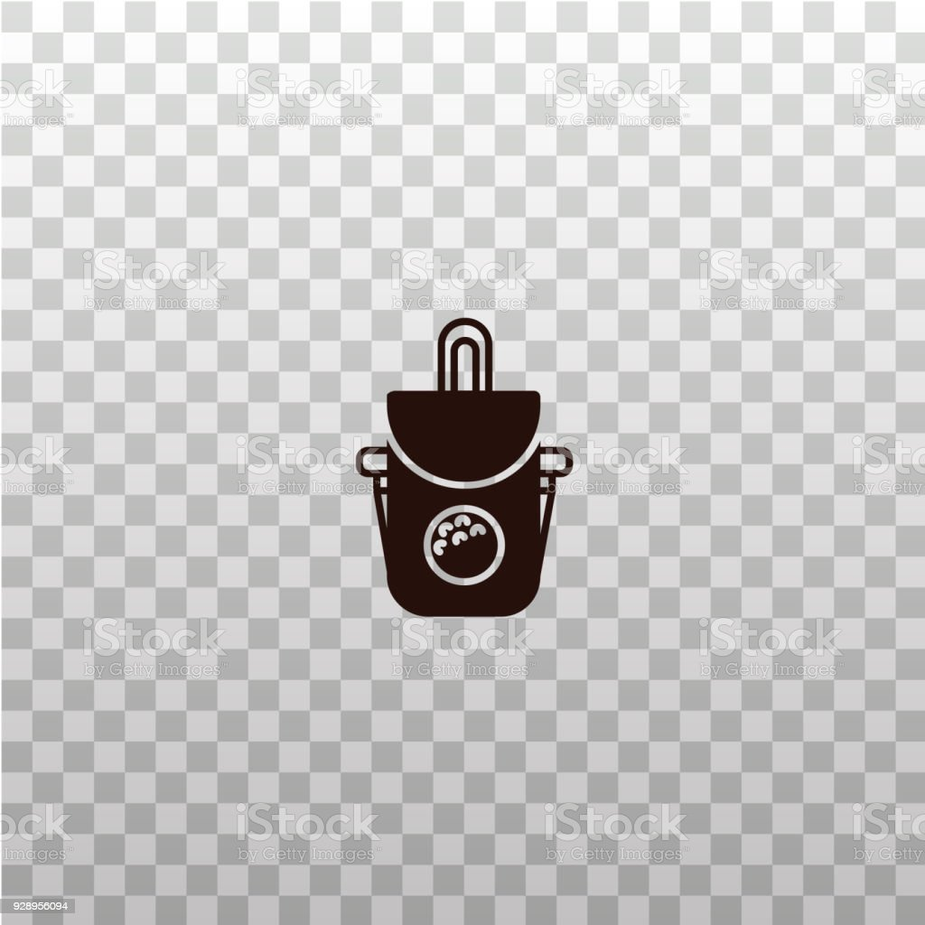 Golf Ball Bag Black Silhouette Icon Sign Symbol Pictogram Logo On Isolated Transparent Background Stock Illustration Download Image Now Istock