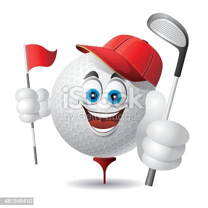 Golf Ball Cartoon Clipart Free Download